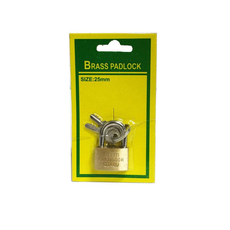 Hangslot 25mm Bagageslot Brass padlock