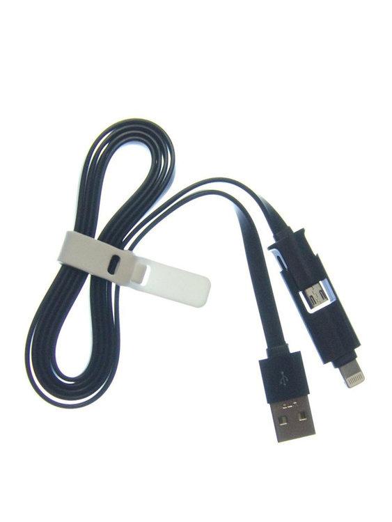 USB MICRO/LIGHTNING KABEL 2IN1