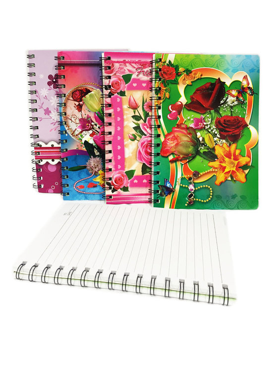 Flowers notebook - A5 schrift | mix ass.
