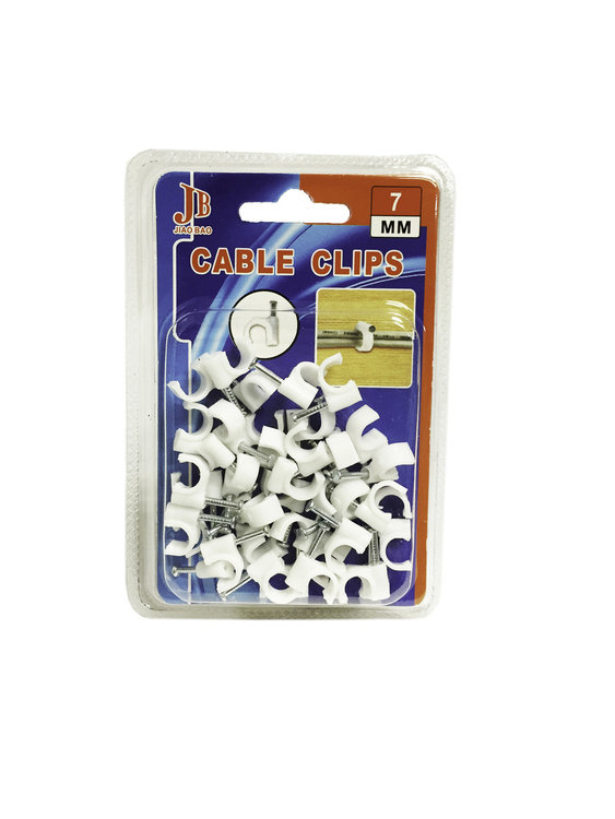 kabelclips 7mm |cable clips Pak 40stuks
