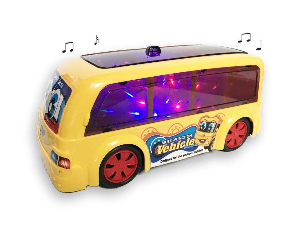 Discobus met muziek en lichtjes |4D Light Funny Car