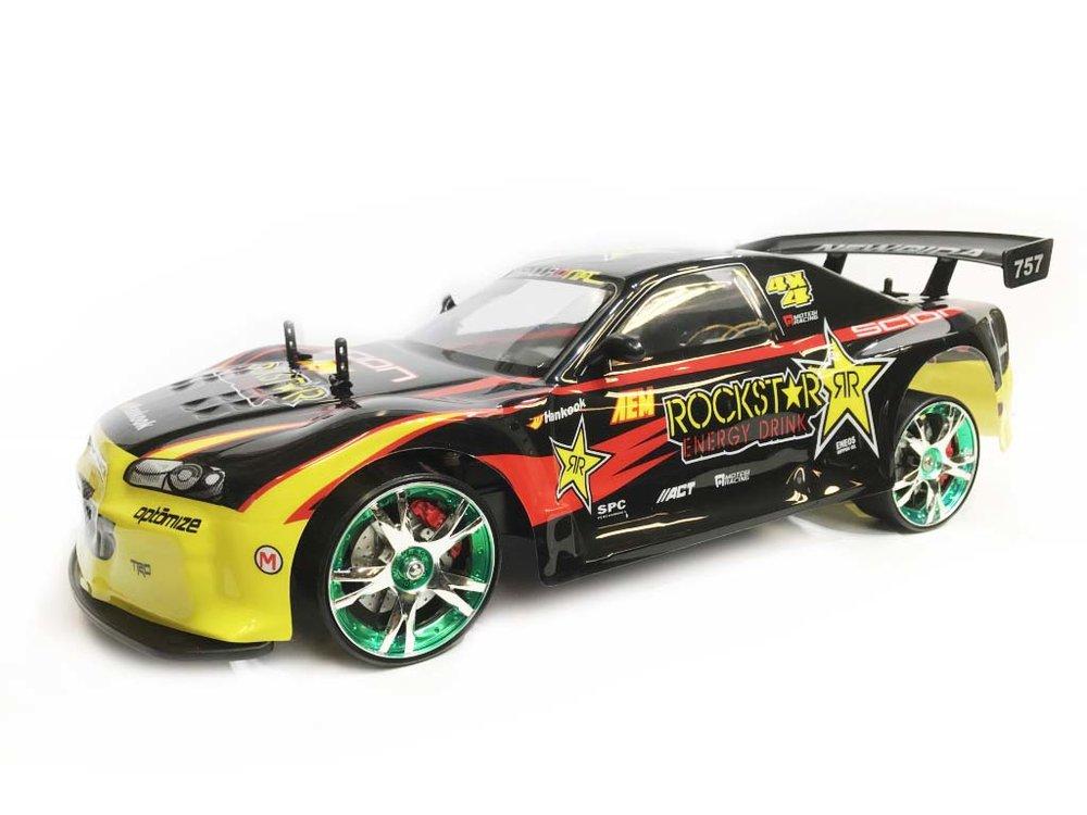 RC AUTO DRIFT RACE CAR 30km/u 4X4 aandrijving  1:10 2.4ghz mix ass.