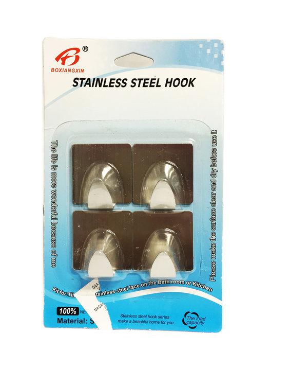 Plakhaakjes zelfklevende plakhaken van roestvrijstaal 4 stuks