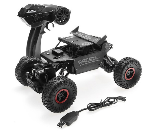 RC 2.4GHZ MONSTER 4WD METAL CRAWLER 1:18  RC AUTO (3ass kleuren)