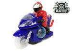 Race motor met led disco lichten en geluid effecten