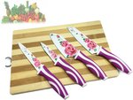 Keuken messenset  (4 stuks messen)_Flower Knife mix assorti kleuren