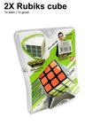 Breinbreker kubus cube| 2x rubiks kubus (3X3) 5.6CM mix ass kleuren