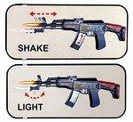 Machine Gun speelgoed geweer AK-47 met schiet geluiden en led verlichting 50CM