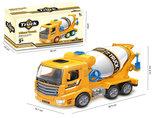 Mixer vrachtwagen speelgoed truck- met licht en geluid - deuren op en dicht functie - 29.5CM_