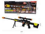 M4A1 CONQEUR Flash GUN speelgoed geweer - met schietgeluiden en led lichtjes - 83CM_