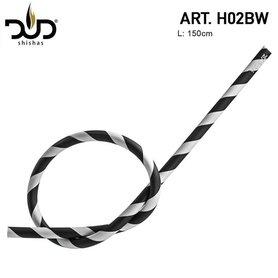 DUD Shisha silicone slang Zebra black&white hose 150CM