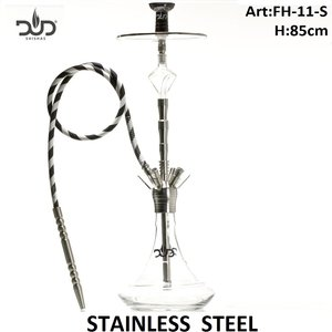 Dud Shisha Crystal Temple stainless steel 85cm - 4 hose waterpijp
