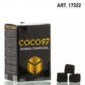 COCO 97 - waterpijp vierkante kooltjes 1KG- 100%
