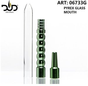 DUD Shisha mondstuk compleet voor waterpijp slang - Metal Adapter for Silicon Hose with Glass mouthpiece