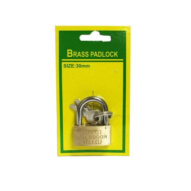 HANGSLOT 30MM Bagageslot Brass padlock