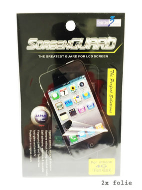 Scherm folie iphone 4 clear 2in1