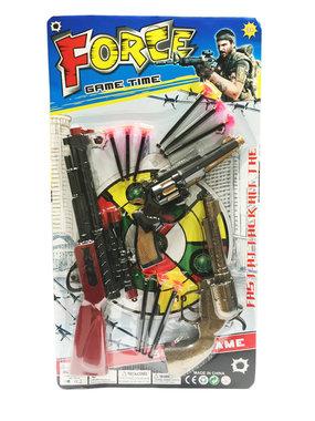 Force Battle Gun Geweren set (3 geweren) pijltjes geweer