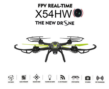 Syma X54HW live Camera Drone FPV Real-Time + Altitude mode