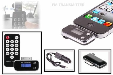 FM transmitter & remote control iphone 4S /iPod /ipad 3/Iphone 3