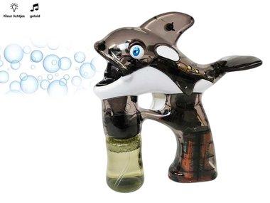 Bellenblaas pistool Dolfijn met lichtjes en muziek - Dolfin Bubble Gun