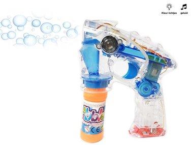 Bubble Gun bellenblaas pistool - met lichtjes en geluid