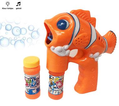 Bellenblaas pistool Dolfijn - lichtjes en geluid - Bubble Gun Fish