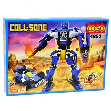 COGO bowblokken Transformer robot&car 2in1 bouwpakket - 201 stuks bouwsteentjes
