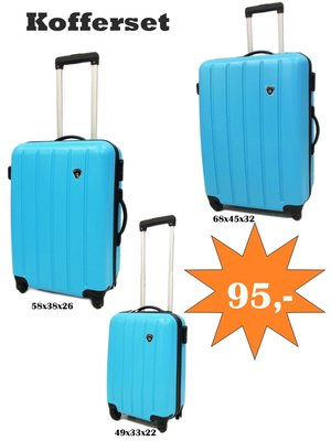 3-delig kofferset
