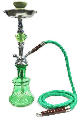 Waterpijp Pyramid-Queen 1 slang 45CM Hookah 4 ass.