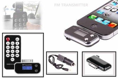 FM transmitter & remote control iphone 4S /iPod /ipad 3/Iphone 3