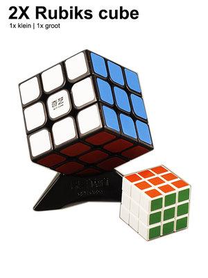 Rubik's cube| 2x rubiks kubus (3X3) 5.6CM mix ass kleuren