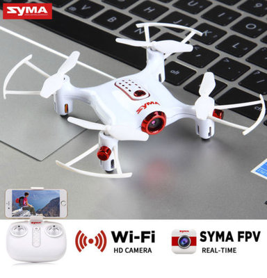 Syma x20W mini quadcopter met fpv live camera drone