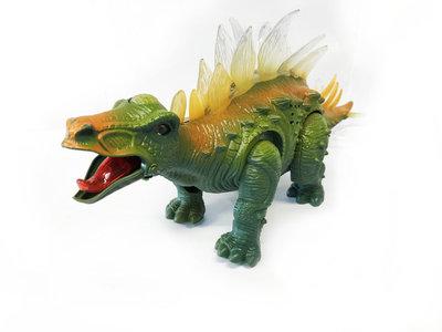 STEGOSAURUS - Dinosaurus met geluid en lichtjes 35CM