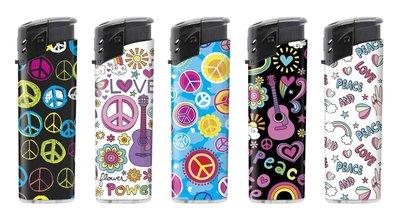 Unilite klik aanstekers - Peace - electronic lighters - navulbaar