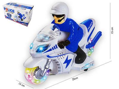Police Motorcycle  - Politie motor speelgoed groothandel met led flash light en politie geluiden