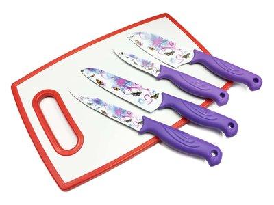 Keuken messenset  (4 stuks messen)_Flower Knife mix assorti kleuren