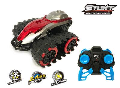RC Track Stunt auto 1:24 - radiografisch bestuurbaar 360 rotation 2.4GHZ -oplaadbaar