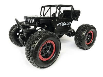 Rc Rock Metal Crawler 4x4 off-road auto 1:14 - bergbeklimmer 2.4GHZ Black
