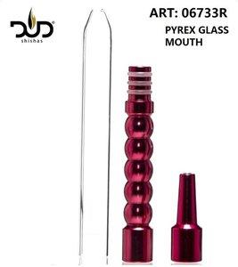 DUD Shisha mondstuk compleet voor waterpijp slang - Metal Adapter for Silicon Hose with Glass mouthpiece