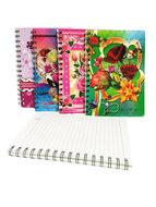 Flowers notebook - A5 schrift | mix ass.