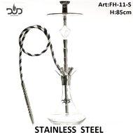 Dud Shisha Crystal Temple stainless steel 85cm - 4 hose waterpijp